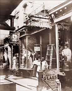 Clothing Store on Division St. in the lower East side of Manhattan circa 1907