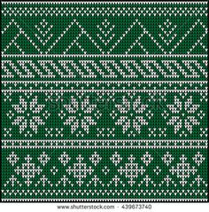 Fair Pattern sweater design on the wool knitted texture.Bright turquoise Knitting Ornament, crochet