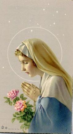 mary with rosary