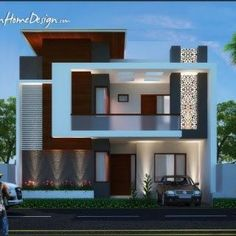Architecture Home Design Projects Inspirations for Yours Glory Architecture House Elevation Islamabad Exterior 4 Plan Elevations Bungalow House Design, House Front Design, Modern House Design, Front Elevation Designs, House Elevation, Building Elevation, Facade Design, Exterior Design, Independent House