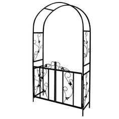 Rose arch trellis climbing plants #flowers metal #garden #patio lockable gate bla,  View more on the LINK: 	http://www.zeppy.io/product/gb/2/151986423326/