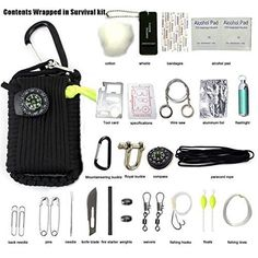 Survival Kit 550 Paracord Grenade 29 Tools EDC Camping Fishing Emergency Gear Bk for sale online Survival Supplies, Survival Tools, Wilderness Survival, Survival Prepping, Survival Hacks, Camping Survival, Survival Items, Survival Fishing, Survival Weapons