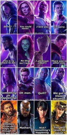 Famous last words Infinity War Avengers film comics comic books comic book Marvel Marvel Dc Comics, Marvel Avengers, Marvel Jokes, Avengers Humor, Funny Marvel Memes, Dc Memes, Marvel Heroes, Captain Marvel, Captain America