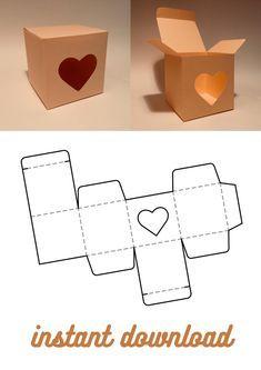 Diy Gift Box Template, Box Template Printable, Paper Box Template, Box Packaging Templates, Box Patterns, Ideias Diy, Diy Box, Box Design, Diy For Kids