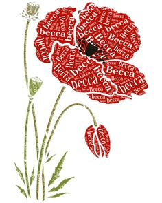 #Poppy Overlay Word Cloud picture showing another side to the normal Word Cloud pictures.