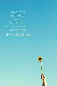 Inspiring words to tell yourself daily. I am amazing Art Print by Libertad Leal Photography Great Quotes, Quotes To Live By, Me Quotes, Motivational Quotes, Inspirational Quotes, Beauty Quotes, Qoutes, Random Quotes, Quotable Quotes