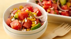 A refreshing savory and slightly sweet salad perfect for your next summer picnic.