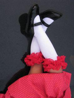 Ruffly Red Knee Socks by kangacoo on Etsy, $12.00