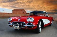 Corvette photographie - 1958 - voiture classique Art - Auto Art