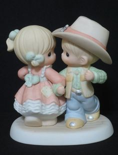 Precious Moments Precious Moments Quotes, Disney Precious Moments, Precious Moments Figurines, Bath N Body Works, Wedding Toasting Glasses, Remembering Mom, Wedding Doll, Biscuit, Collectible Figurines