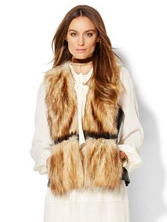 Shop Faux-Fur Vest . Find your perfect size online at the best price at New York & Company.