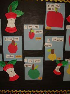 Fun apple idea to help your students understand sentences!