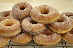 Pumpkin donuts. With cinnamon sugar. Which could easily be re-shaped and filled with pastry cream. Caramel pastry cream? MAYBE.