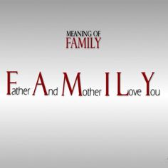 I love you my family ❤️❤️