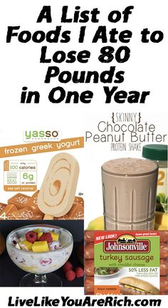 protein shake to lose weight healthy Foods I Ate to Lose 80 Pounds Healthy Diet Plans, Get Healthy, Healthy Choices, Healthy Eating, Healthy Protein, Clean Eating, Healthy Weight, Healthy Foods, Healthy Recipes