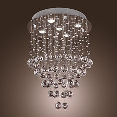 Max+60W+Chandelier+/+Flush+Mount+,++Modern/Contemporary+Others+Feature+for+Crystal+/+Bulb+Included+MetalLiving+Room+/+Bedroom+/+Dining+–+USD+$+279.99