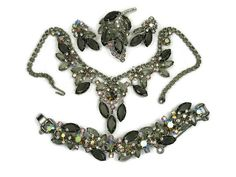 Juliana Black Diamond Grand Parure by VintageSparkleyBits on Etsy