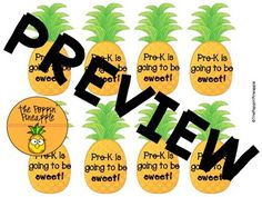 Back to School Tropical Pineapple Welcome Tags for Students Use as sweet treat bag tags or hole lunch and use as a pencil topper for student gifts at meet the teacher.