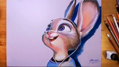 Zootopia, Judy Hopps - Speed drawing  주토피아 주디 그리기
