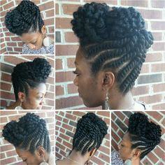 Stunning Natural Hair Updo