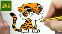 // How to draw Shere Khan is the point of this video. Abstract Drawings, Animal Drawings, Kawaii Doodles, Anime Animals, Animal Quotes, Funny Animal Videos, Animal Crafts, Baby Cats, Art Techniques