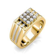 The Rex Ring for Him - Diamond Jewellery at Best Prices in India Men's Jewelry Rings, Men's Jewellery, Gold Jewellery Design, Gold Jewelry, Diamond Jewellery, Mens Gold Rings, Gold Diamond Rings, Gents Ring, Engagement Rings For Men