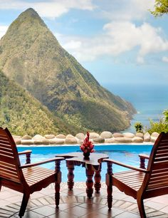 Ladera Resorts in St. Lucia Island of the Caribbean Places Around The World, Oh The Places You'll Go, Places To Travel, Places To Visit, Tenerife, Vacation Destinations, Dream Vacations, Vacation Spots, Vacation Places