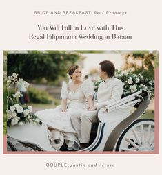 If we're talking about a timeless love, then you'll be scrolling through this regal Filipiniana wedding all day long. Justin and Alyssa have been together for 14 years, and have known e… Filipiniana Wedding Theme, Wedding Attire, Wedding Themes, Wedding Designs, Wedding Blog, Wedding Colors, Wedding Styles, Wedding Stuff, Wedding Dresses