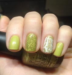 Cat mani. OPI Don't Talk Bach To Me, stamping MoYou London Enchanted 13