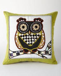 H7Q1V MacKenzie-Childs Owl Pillow
