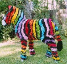 Huge Zebra piñata you can make yourself