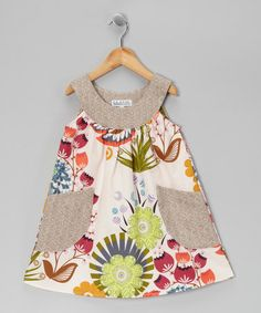 Take a look at this Gray & Pink Floral Yoke Dress - Toddler & Girls by Tutu & Lilli on #zulily today!