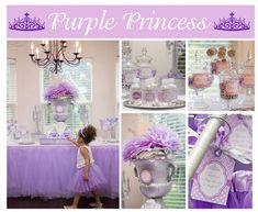 Purple Princess Party #princess #purple Birthday party