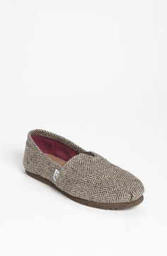 TOMS 'Classic' Metallic Herringbone Slip-On (Women) available at #Nordstrom