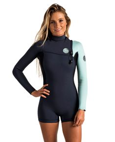 G-Bomb 2mm Long Sleeve Zip Free Wetsuit | Womens Spring Suit Wetsuits | Springsuits | Rip Curl Australia