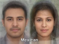 The typical Mexican face from thousands and thousands of images of everyday people compiled together into one composite portrait. To see more, go here. http://www.mediadump.com/hosted-id167-average-faces-from-around-the-world.html
