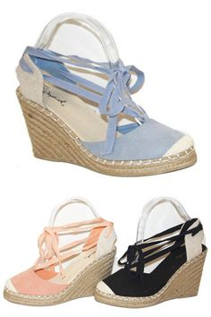 Its time for wedges! Bohemian Shoes, Boho, Wedge Heels, Espadrilles, Slippers, Footwear, Wedges, Ankle, Sandals