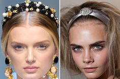 We wanted - scratch that, needed - the hair accessories from the Dolce & Gabbana and Oscar de la Renta fall collections the moment we saw them. And short of befriending the designers (we wish), a