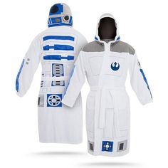 Star Wars Character Inspired Bathrobes. The storm trooper is the best.