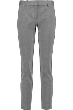THEORY Testra cropped jacquard straight-leg pants. #theory #cloth #pants