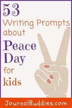 Peace Day is a unique idea that encourages understanding, compassion, and tolerance. In this set of writing ideas and journal prompts, students are asked to think about the importance of peace and the potential for it in the world. Isn't it exciting to think that all it takes is one great writing prompt to spark a child's imagination about the possibilities of peace in our world!