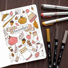 cleaning bullet journal still gonna go with an autumn theme for november even though we only experience amihan haha just cause amandarachlee s bujo setup Bullet Journal Inspo, Bullet Journal Monthly Spread, Bullet Journal Cover Ideas, Bullet Journal Cover Page, Bullet Journal 2020, Bullet Journal Themes, Bullet Journal Layout, Journal Covers, Journal Ideas