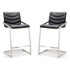 TOV Furniture Rio Stainless Steel Counter Stool - Set of 2 - TOV-K3607