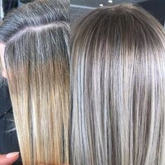 Low Lights Hair, Light Hair, Blonde Low Lights, Grey Hair Help, Grey Hair Roots, Gray Hair Highlights, Grey Hair Lowlights, Highlight And Lowlights, Growing Out Highlights