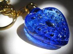 Blue heart keyring