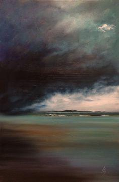 Michael Murphy Scottish artist. 'Storm, Arran'. Oil.