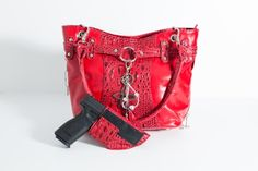 Tatiana Concealed-Carry Purse in Red.