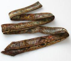 Multi Gold and Teal  Hand Dyed Artisan Cotton Batik by urbanraku