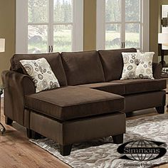 Simmons® Malibu Beluga Sofa With Reversible Chaise $499.99 Set Chaise  Cushion Reverses For Right Or Left Facing Set Includes Chaise U0026 Ottoman Only