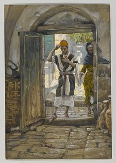 File:Brooklyn Museum - On Entering the House, Salute It (En entrant la maison salue-la) - James Tissot - overall.jpg - Wikimedia Commons